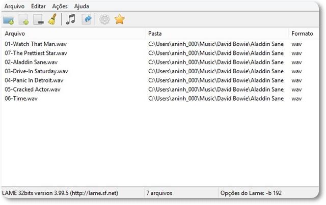 wxLame - Imagem 1 do software