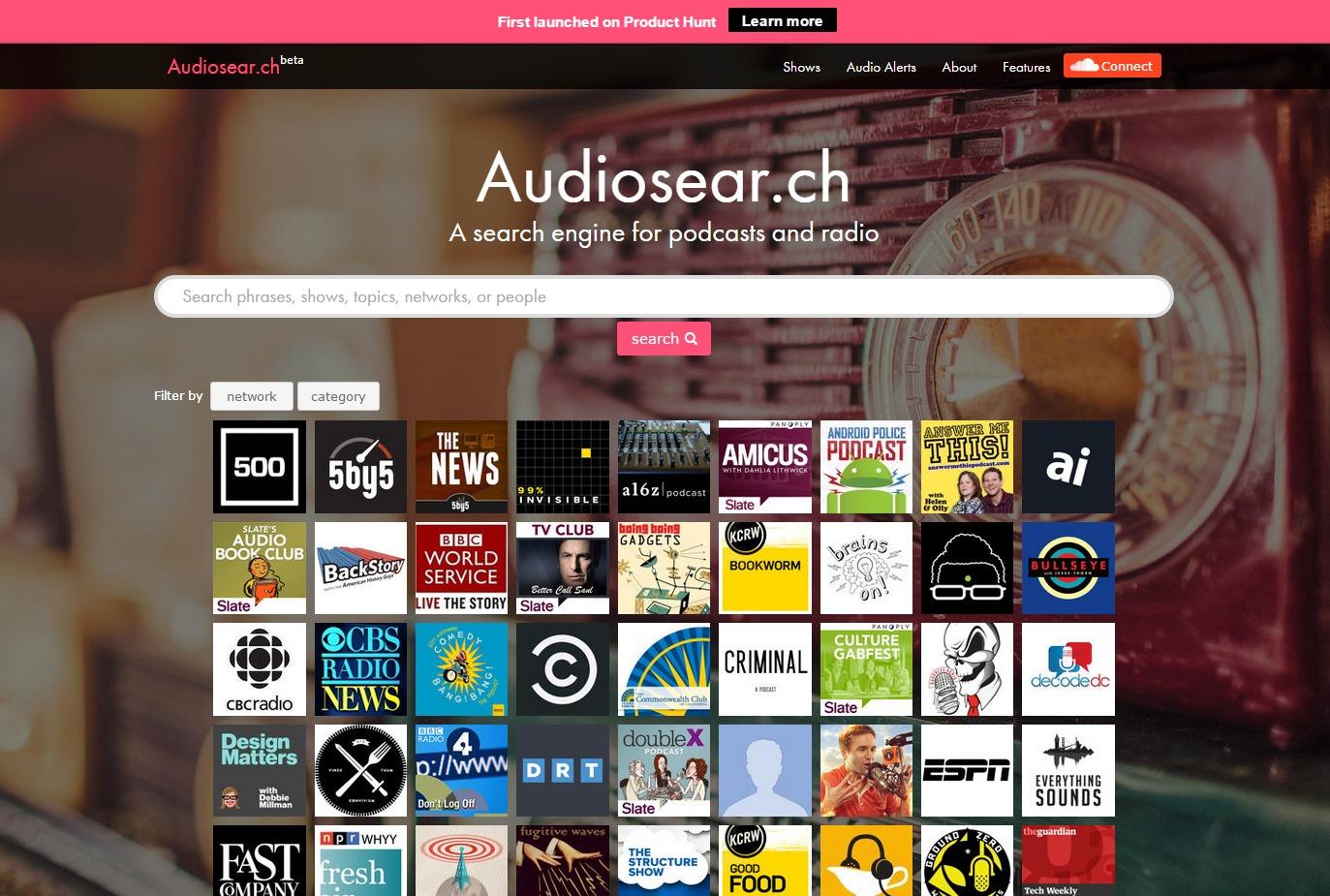 Audiosear.ch - Imagem 1 do software