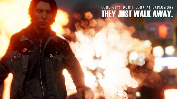 """""""Caras legais não olham para as explosões, eles simplesmente vão embora."""""""