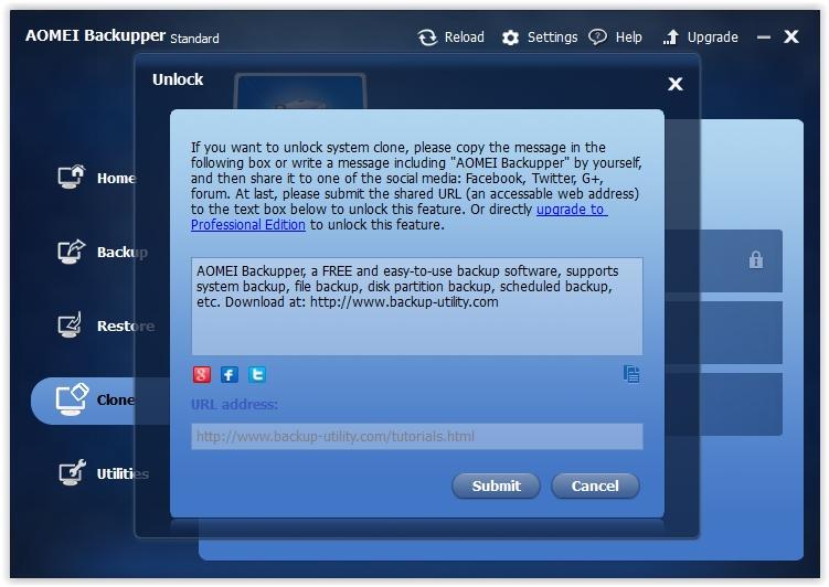 AOMEI Backupper - Imagem 2 do software