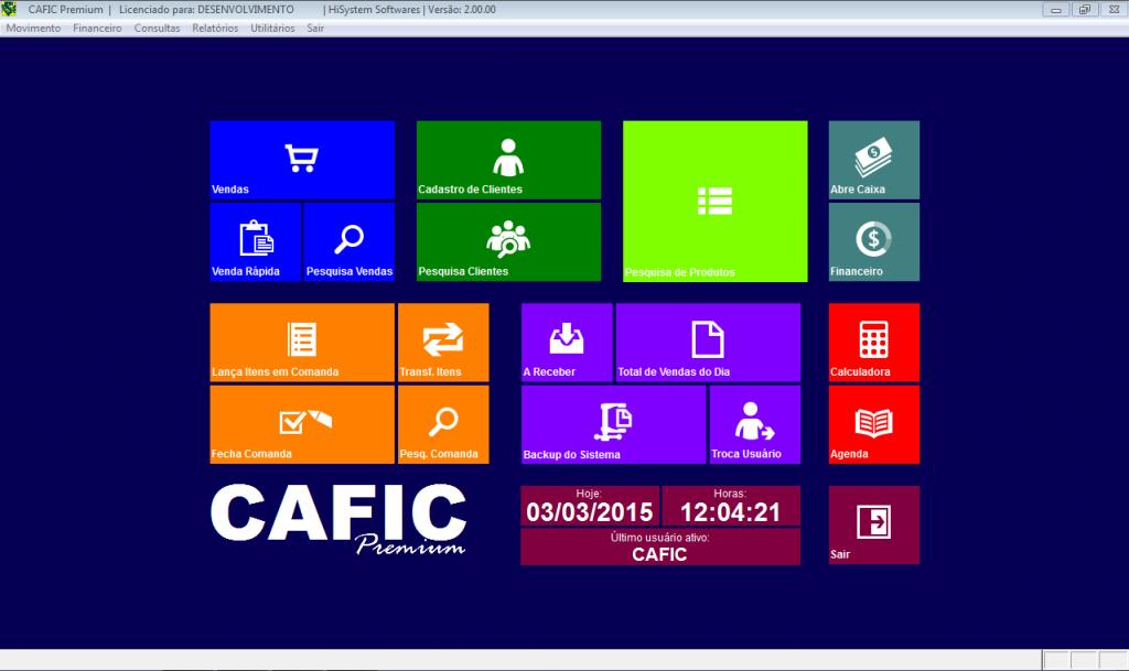 CAFIC – Controle Administrativo Financeiro e Comercial - Imagem 1 do software