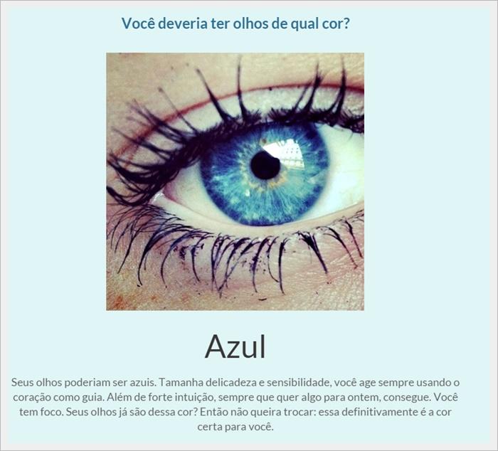 Você deveria ter olhos de qual cor? - Imagem 1 do software