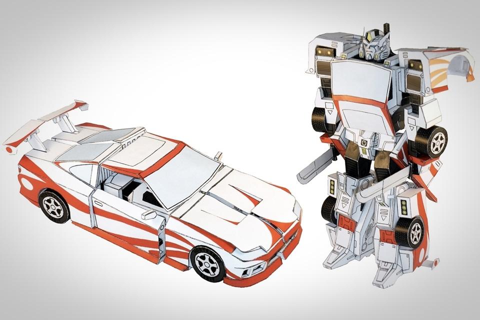 Populares Arte com papel inspirada nos Transformers? Parece difícil, mas  ZD31