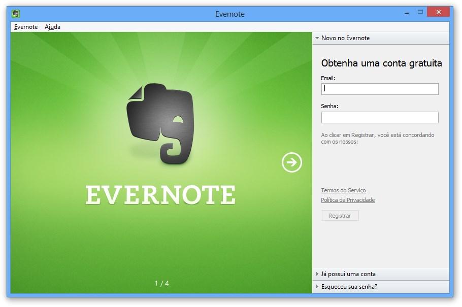 Evernote Download para Windows em Português Grátis