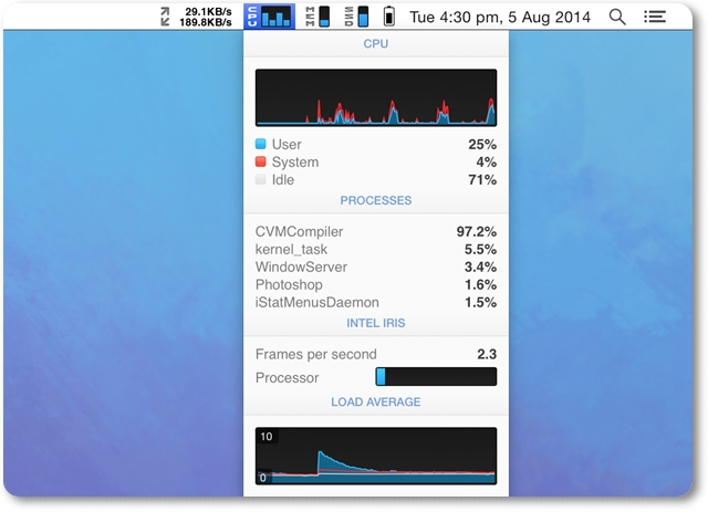 iStat Menus - Imagem 1 do software