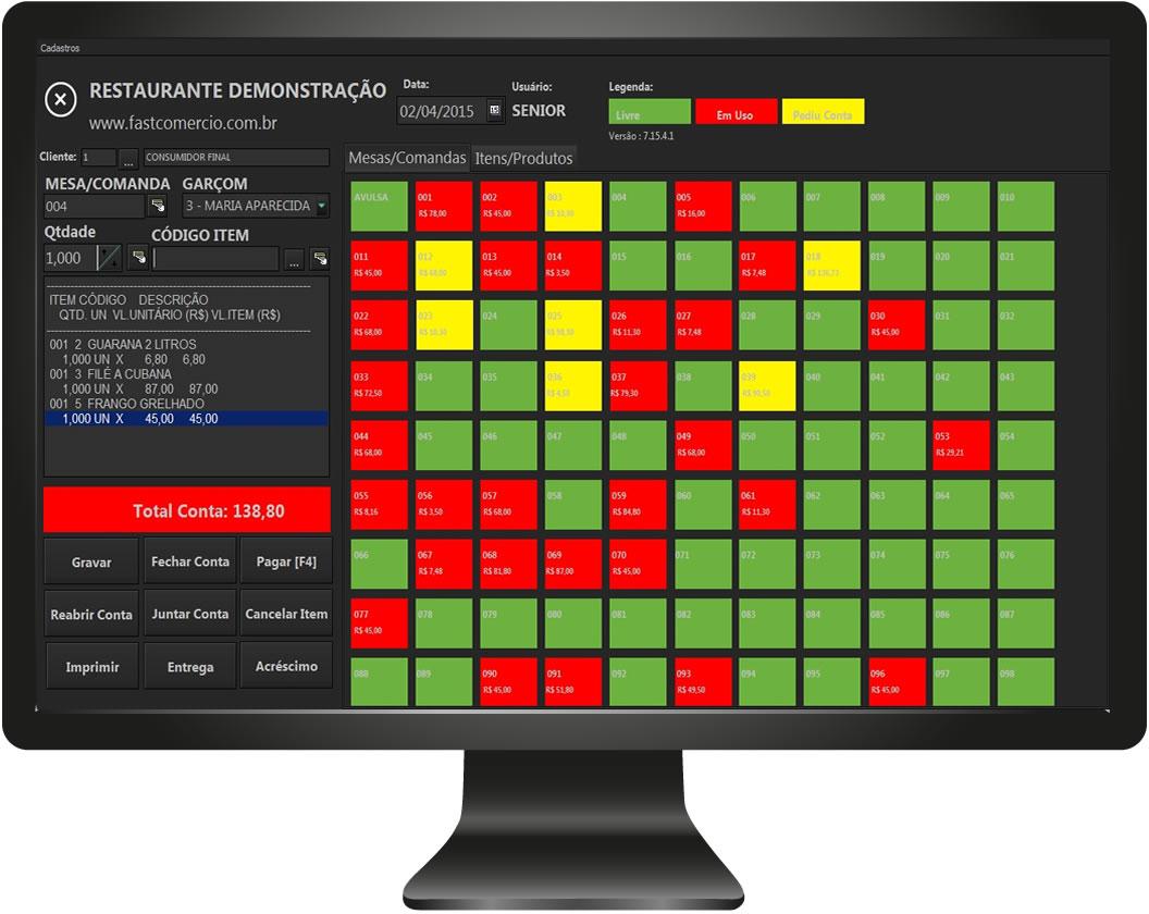 FastCheff - Sistema para Restaurantes e Delivery - Imagem 1 do software