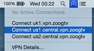 ZoogTV VPN - Imagem 4 do software
