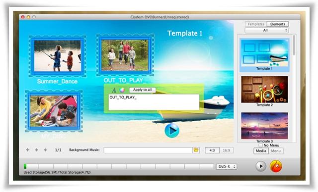 Cisdem DVDBurner - Imagem 2 do software