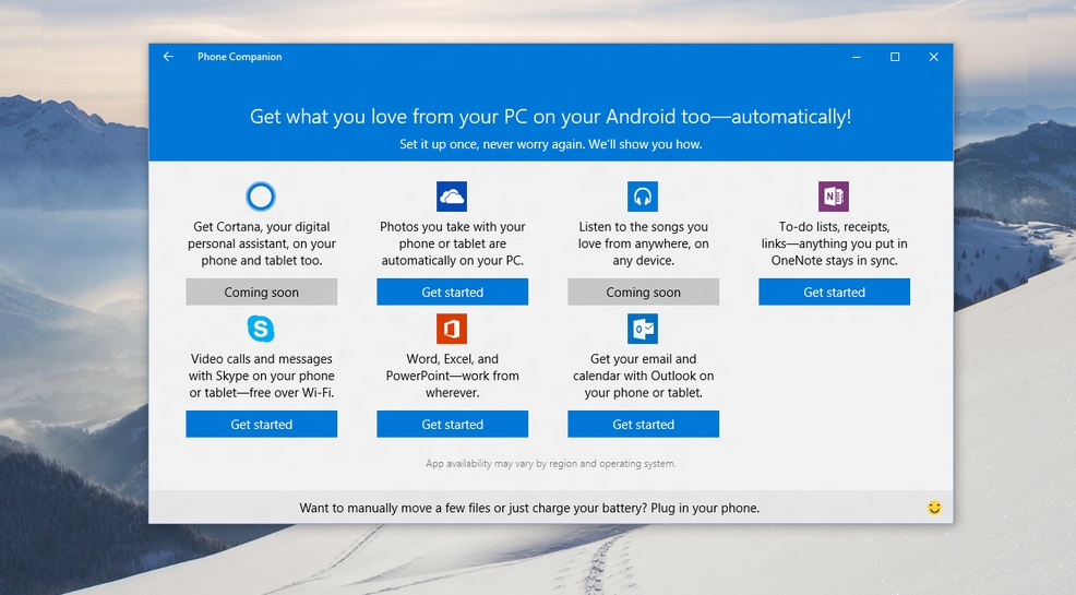 Phone Companion do Windows 10 sincroniza seu PC com qualquer