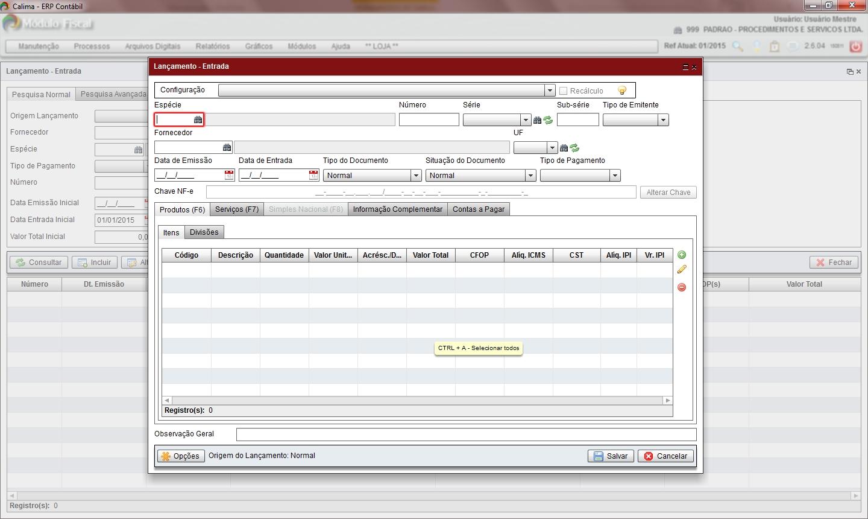 Calima ERP Contábil - Imagem 1 do software