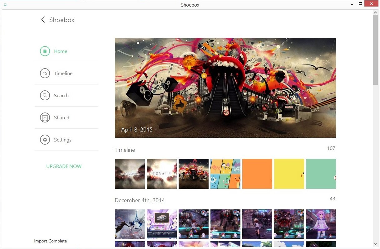 Shoebox - Photo Backup Cloud - Imagem 1 do software