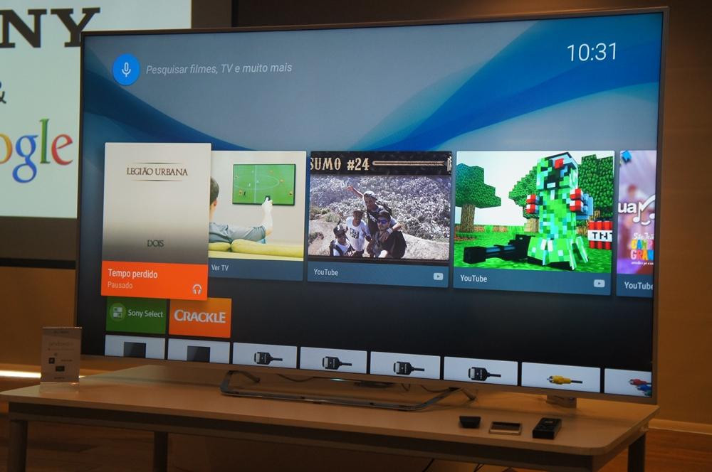 c7d5b6987 Sony traz primeiros televisores com a plataforma Android TV ao Brasil