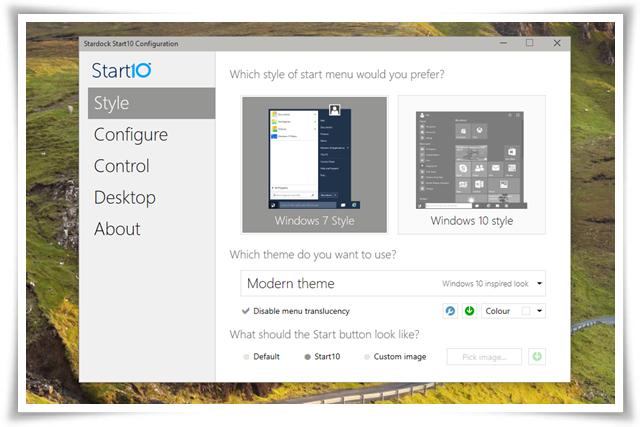 Start10 - Imagem 3 do software