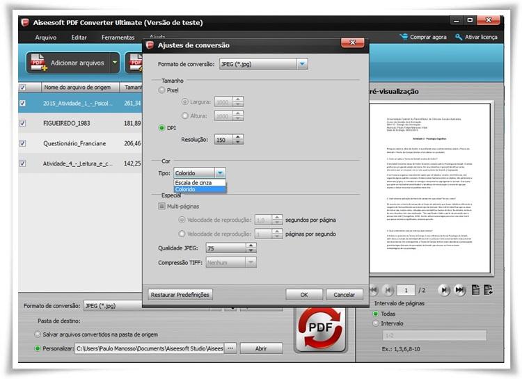 Aiseesoft PDF Converter Ultimate - Imagem 2 do software