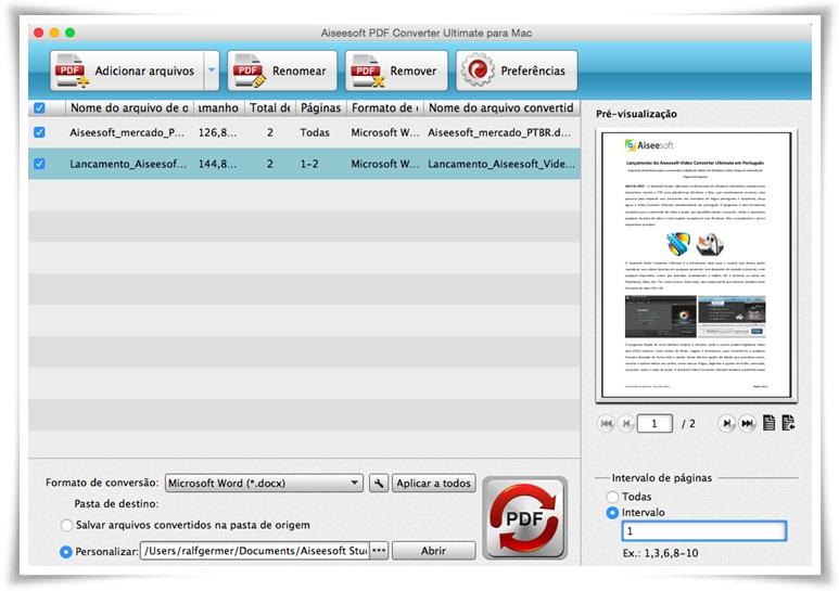 Aiseesoft PDF Converter Ultimate - Imagem 1 do software