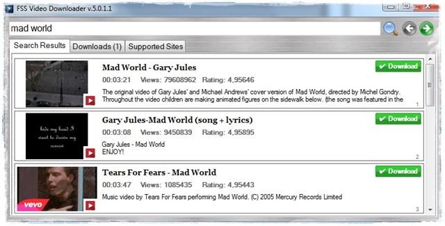 FSS Video Downloader - Imagem 3 do software