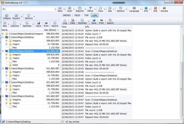 GetFoldersize - Imagem 2 do software