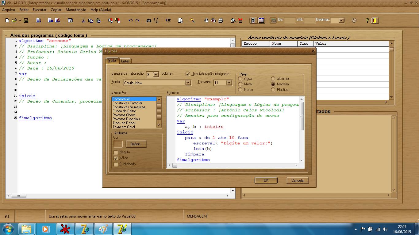 visualg para windows 7 64 bits