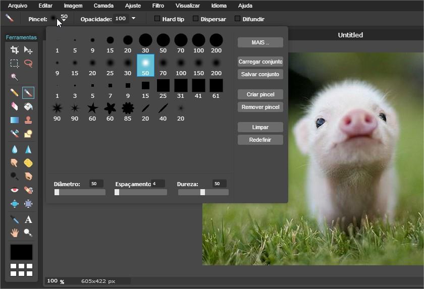 Pixlr - Imagem 3 do software