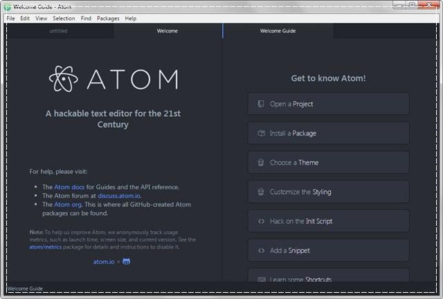 Atom Text Editor - Imagem 1 do software