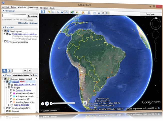 Google Earth - Imagem 1 do software
