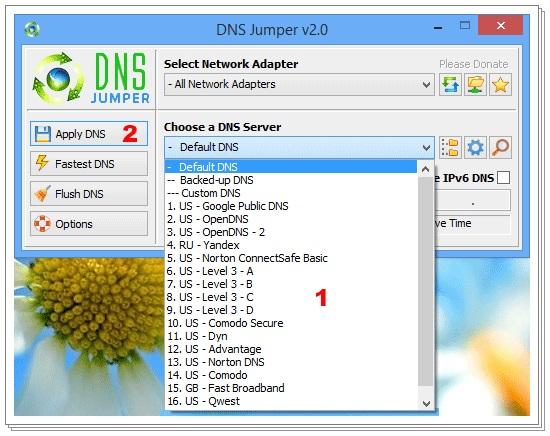 DNS Jumper - Imagem 3 do software