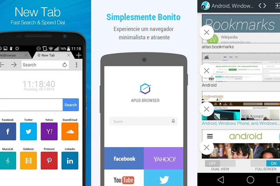 7429907fc Conheça 7 navegadores leves e rápidos para dispositivos móveis com Android  - TecMundo