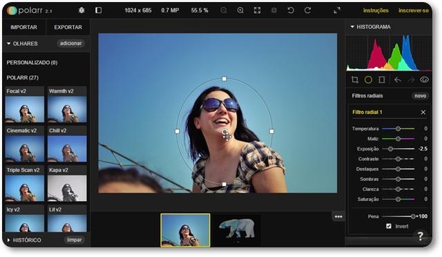 Polarr Photo Editor 2 para Google Chrome - Imagem 1 do software