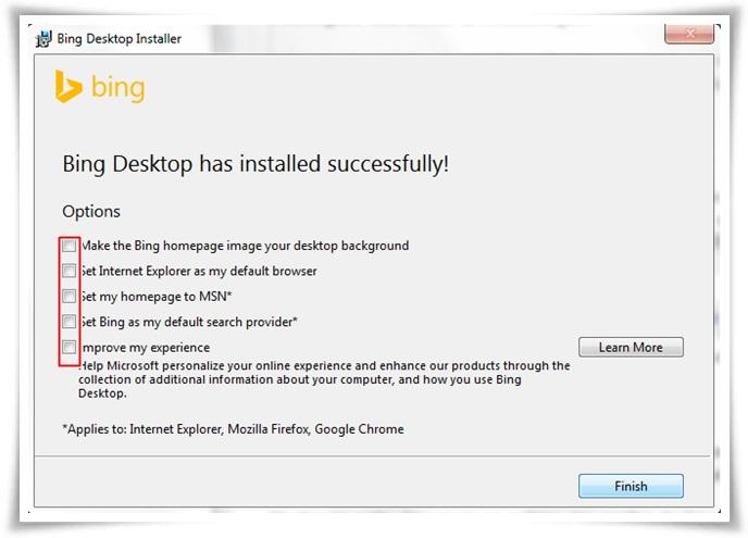 Bing Desktop - Imagem 3 do software