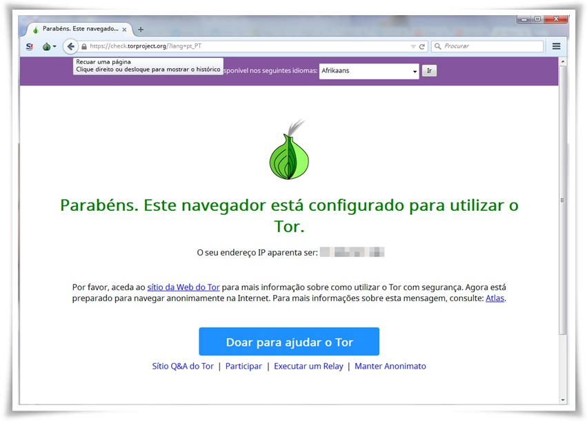 Tor Browser - Imagem 1 do software