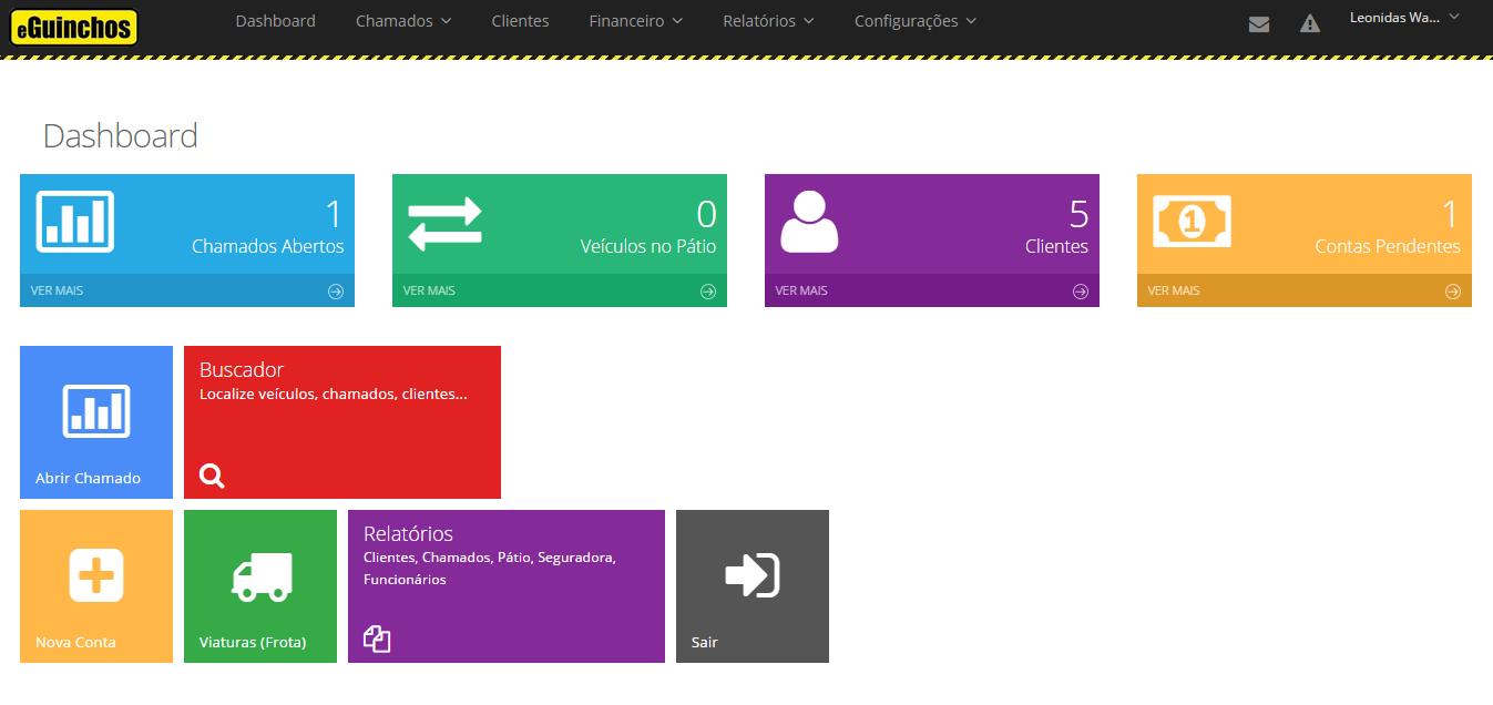 eGuinchos - Sistema para empresas de guincho e reboque - Imagem 1 do software