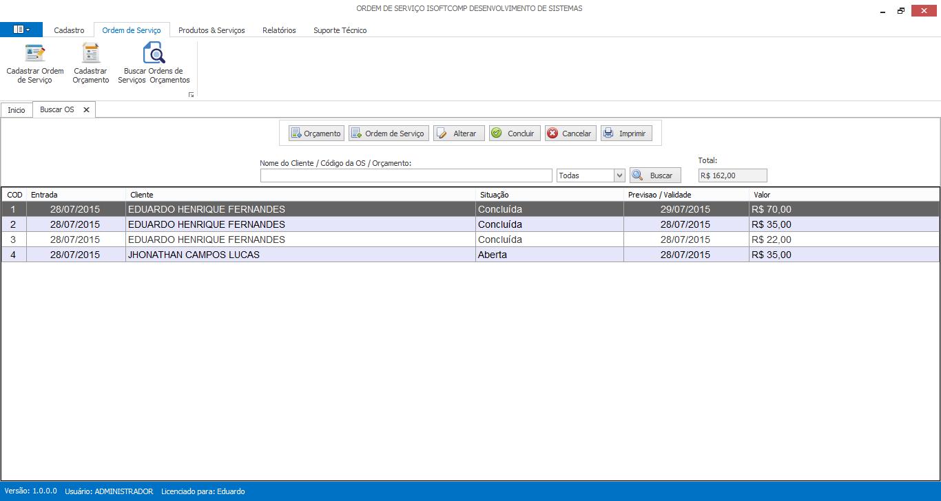 iSoftComp - Ordem de Serviço - Imagem 1 do software