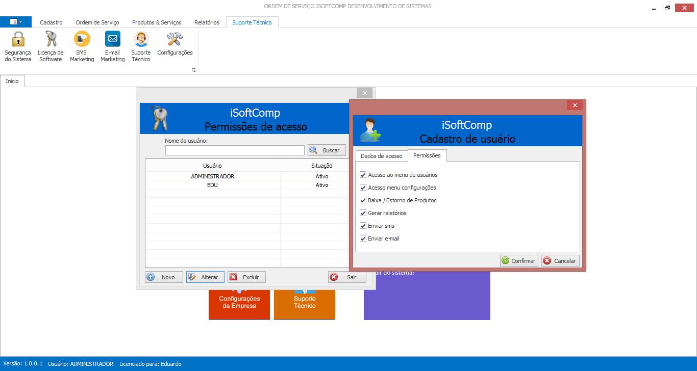 iSoftComp - Ordem de Serviço - Imagem 2 do software