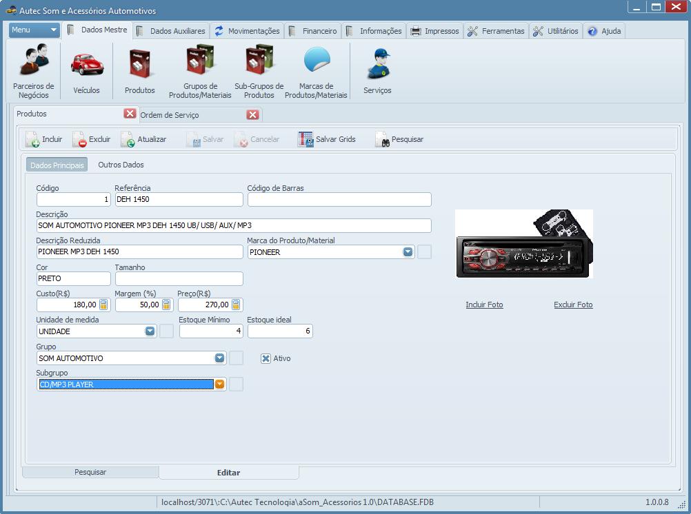 Autec Som e Acessórios Automotivos - Imagem 1 do software