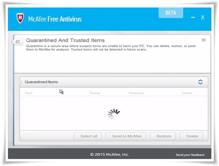 McAfee Free Antivirus Beta - Imagem 2 do software