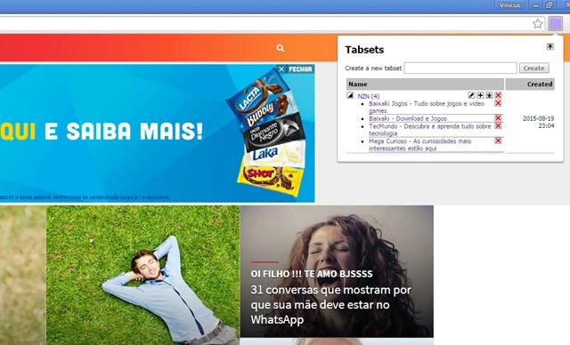 Tabsets - Imagem 1 do software
