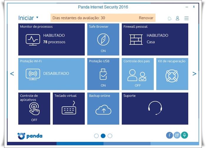 Panda Internet Security - Imagem 2 do software