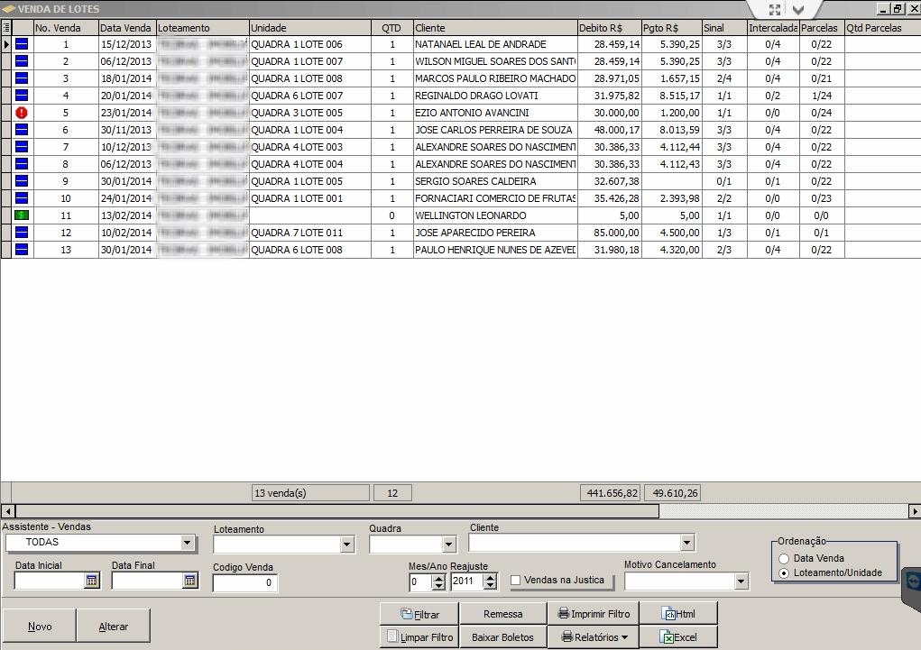 Sistema Gestão de Loteamento - Imagem 2 do software