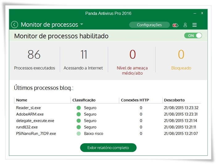 Panda Antivirus Pro - Imagem 3 do software