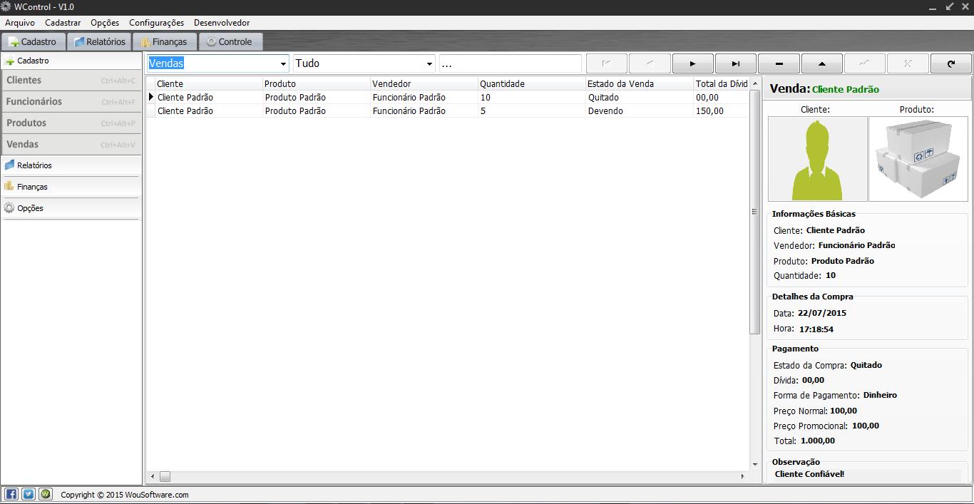 WControl - Imagem 1 do software