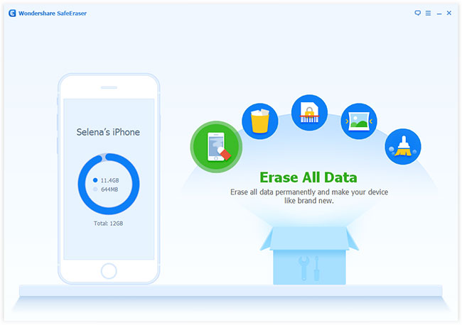Wondershare SafeEraser - Imagem 1 do software