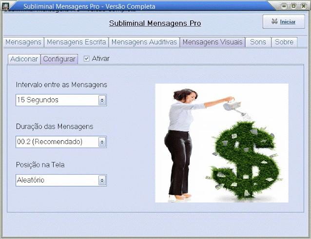Subliminals Genius Messages Pro - Imagem 1 do software