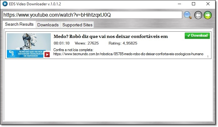 EDS Video Downloader - Imagem 1 do software