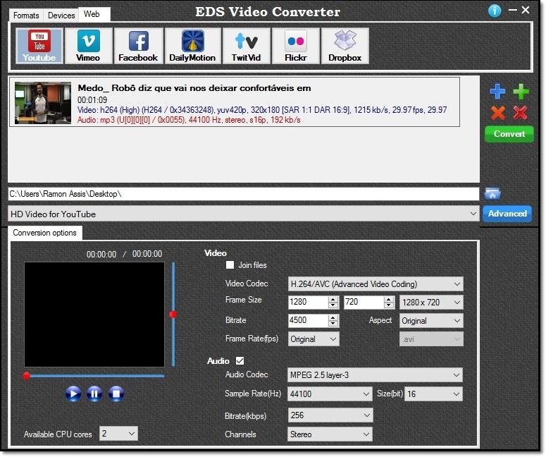 EDS Video Converter - Imagem 2 do software