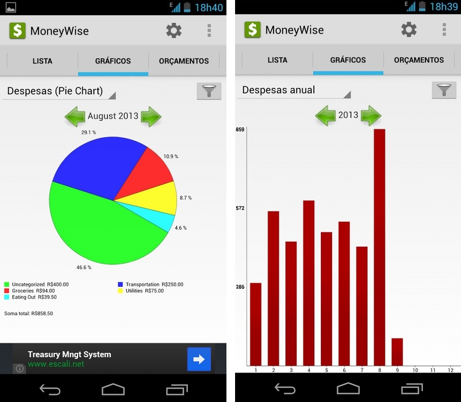 MoneyWise - Imagem 2 do software