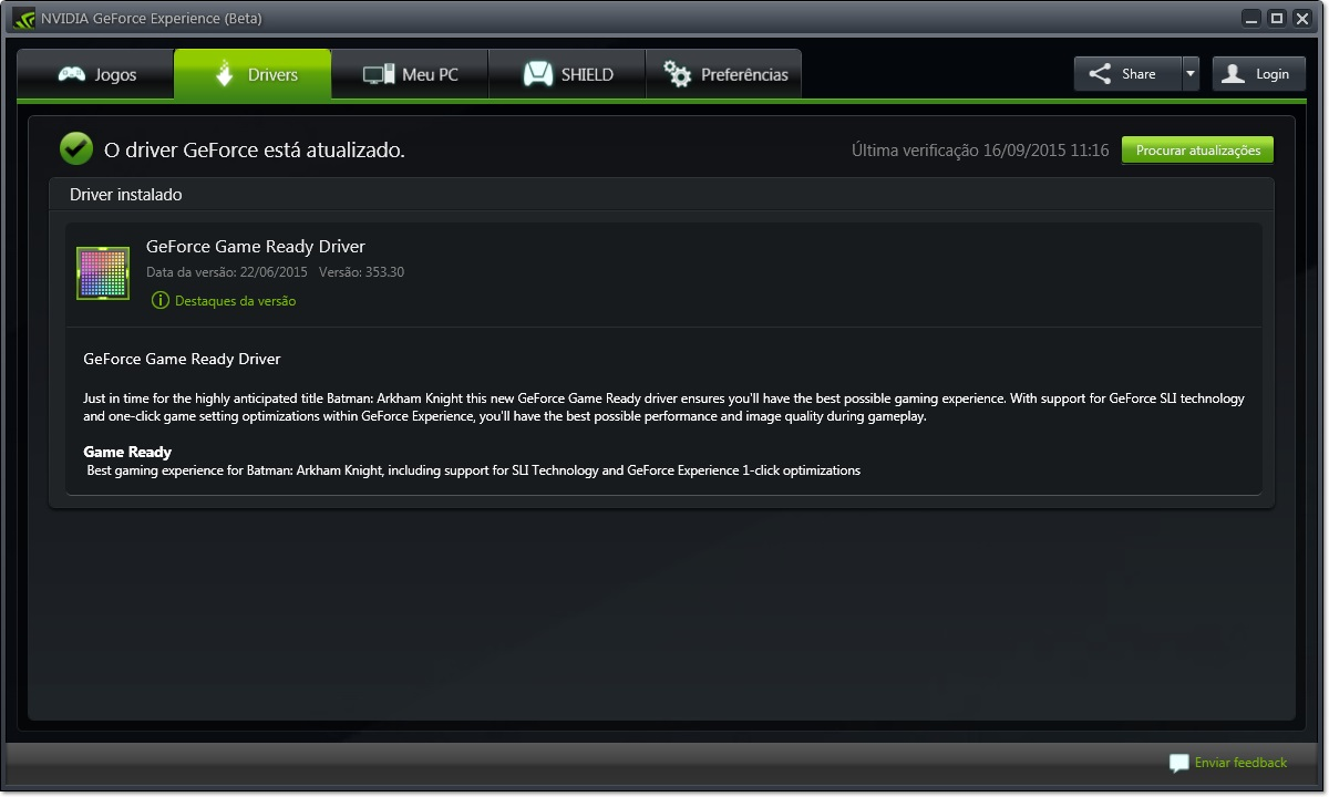 GeForce Experience BETA - Imagem 2 do software