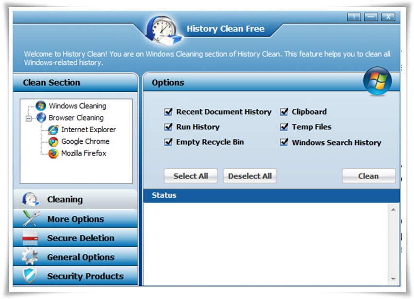 History Clean - Imagem 1 do software