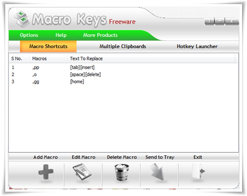 Macro Keys - Imagem 1 do software