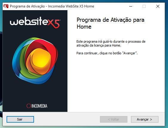 WebSite X5 Home 11 - Imagem 5 do software