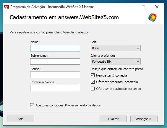 WebSite X5 Home 11 - Imagem 7 do software